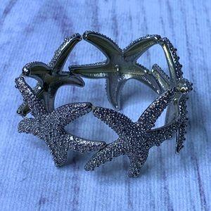 Dancing Starfish bracelet sea star fish silver NEW